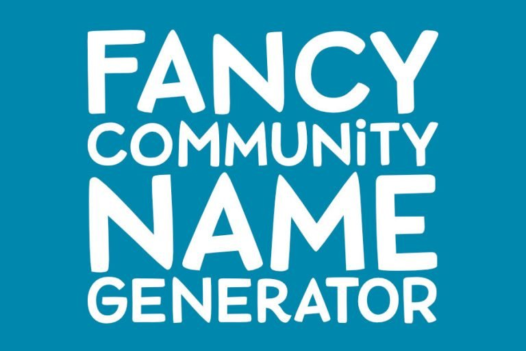 Fancy Community Name Generator!